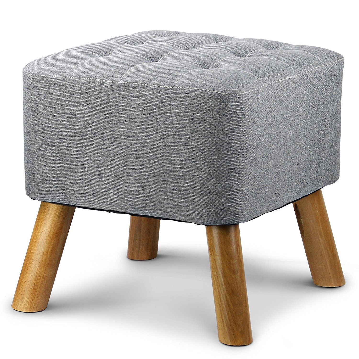 1easylife Furnishings Square Upholstered Ottoman Bench